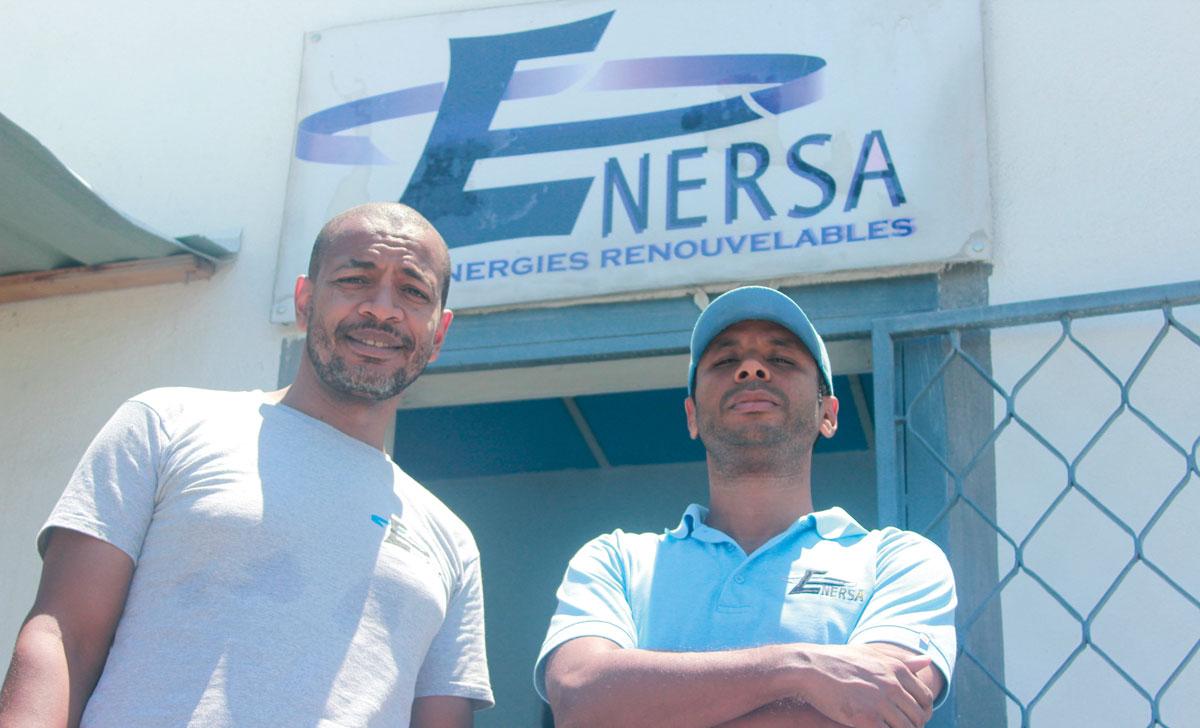 LES DEUX FONDATEURS D'ENERSA, Jean Ronel Noël et Alex Georges.