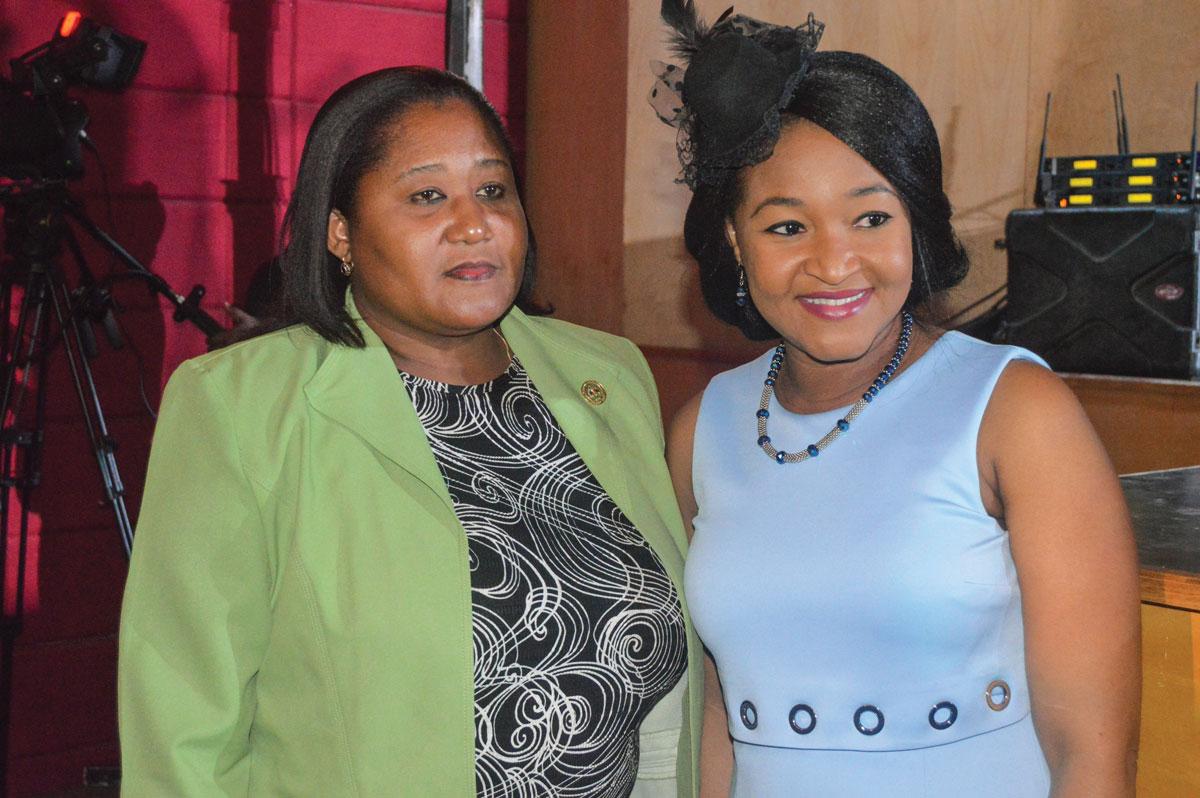 LOUDIE CESAR, maire assesseur de Jacmel, et Nice Simon, maire de Tabarre.