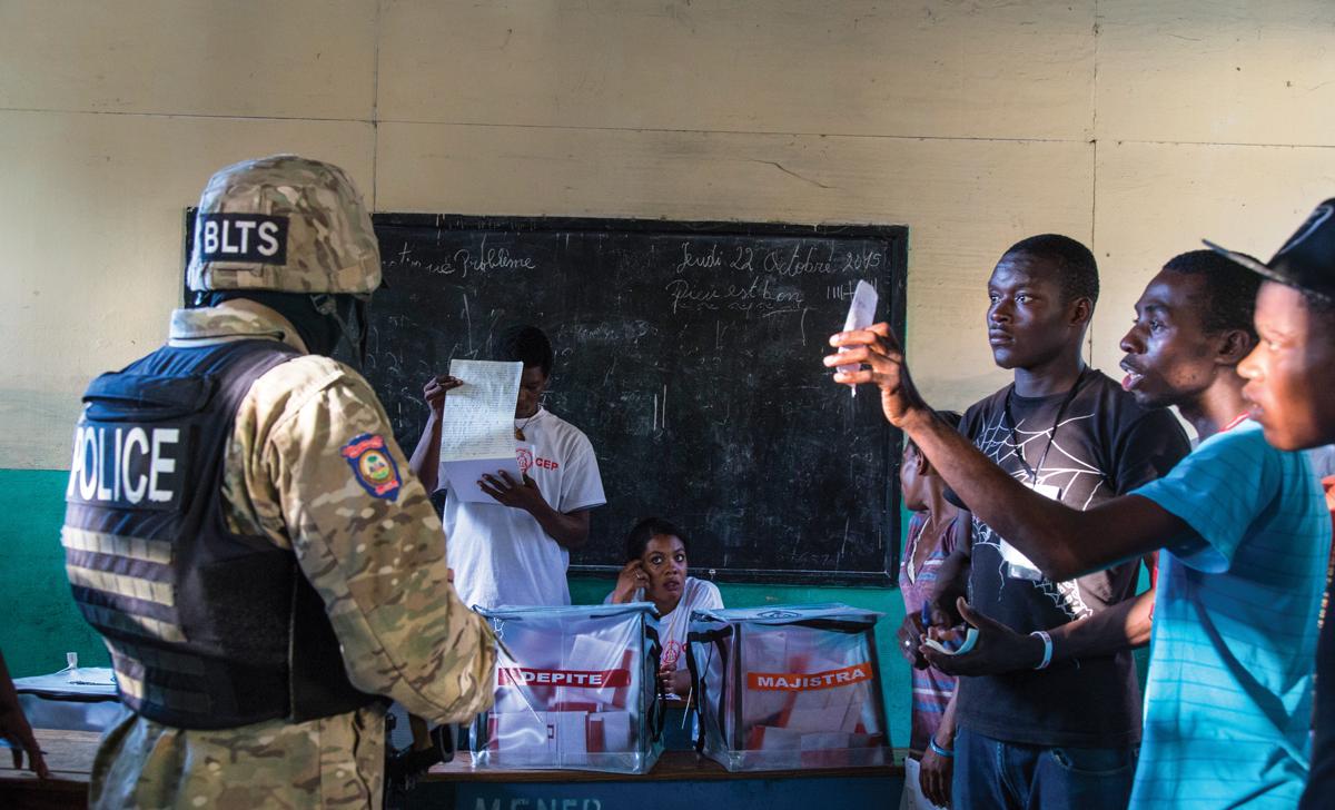 TOUTES les unités spécialisées de la PNH sont mobilisées à l'occasion des élections du 9 octobre