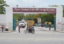 L'ENTRÉE PRINCIPALE du parc industriel de la SONAPI à Port-au-Prince