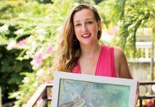 L'artiste peintre Emily Bauman