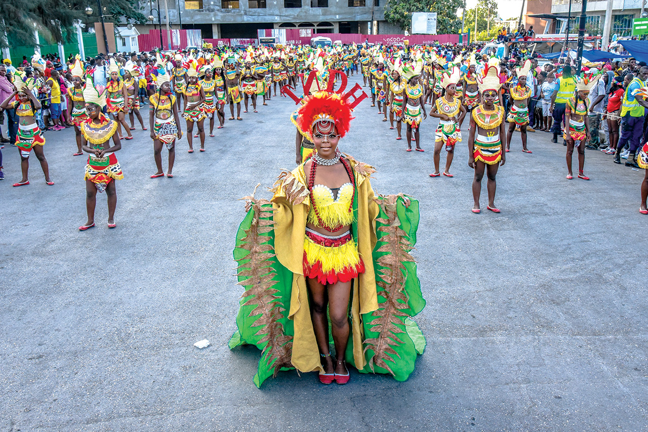 Défilé des indiennes d'Haïti.