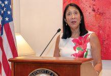 L'Ambassadeur des Etats-Unis d'Amérique en Haïti Michèle J. Sison.