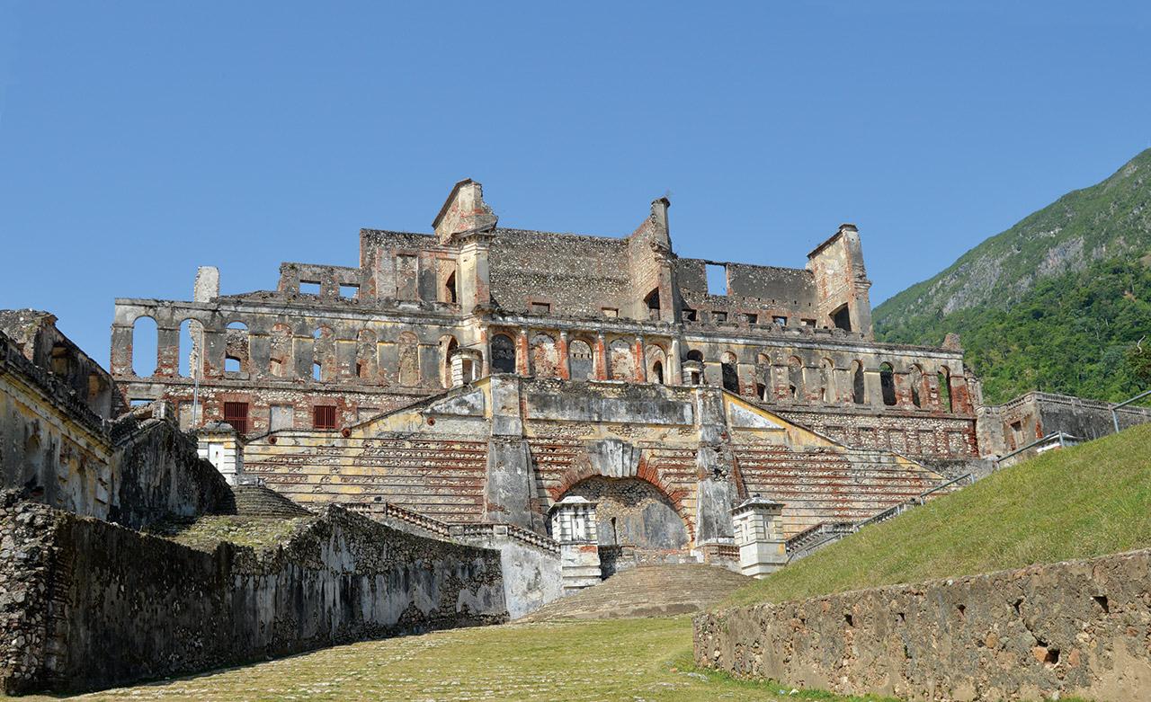 Les vestiges du palais Sans souci.