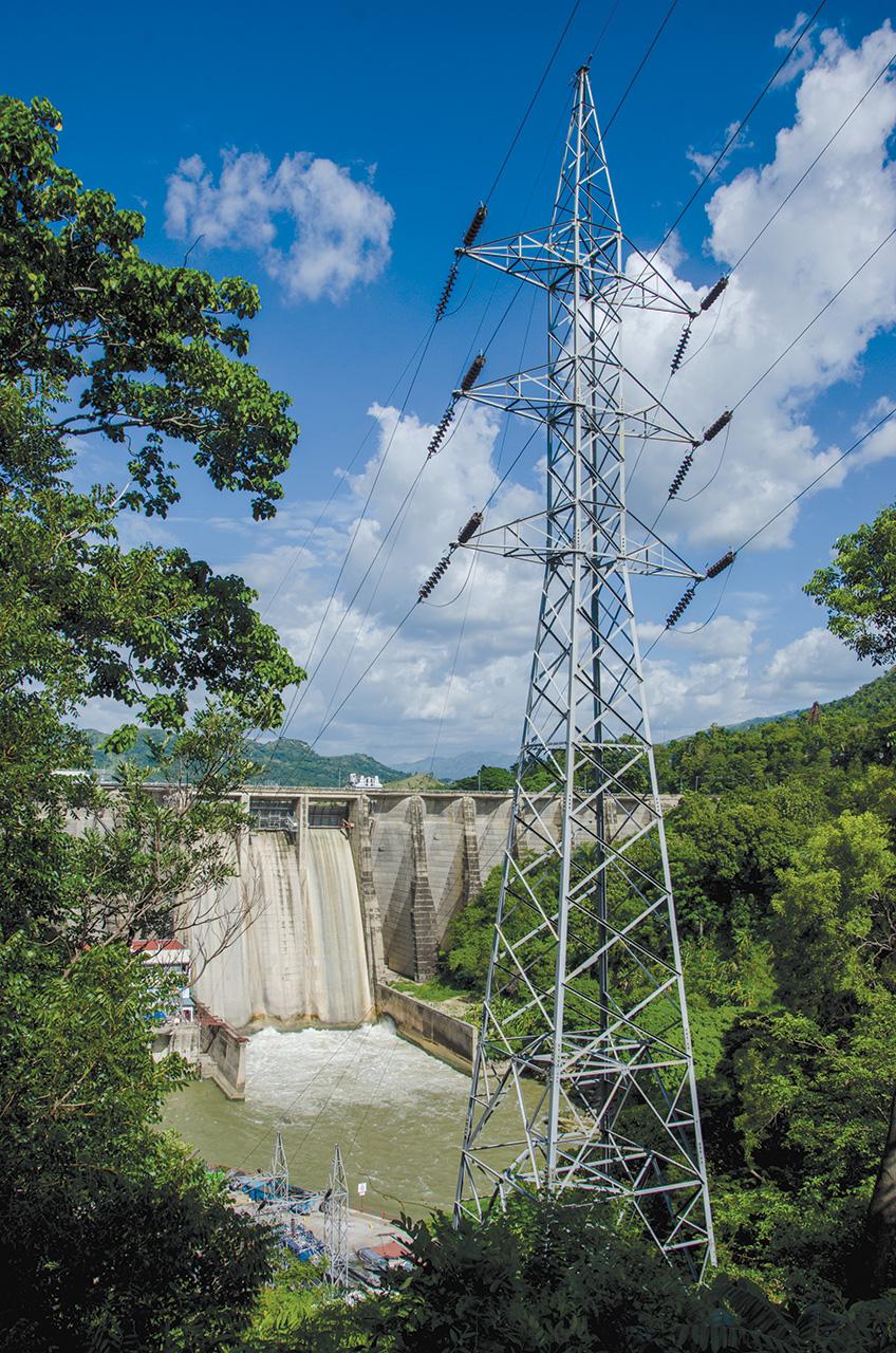 Une vue du barrage hydroélectrique de Péligre.