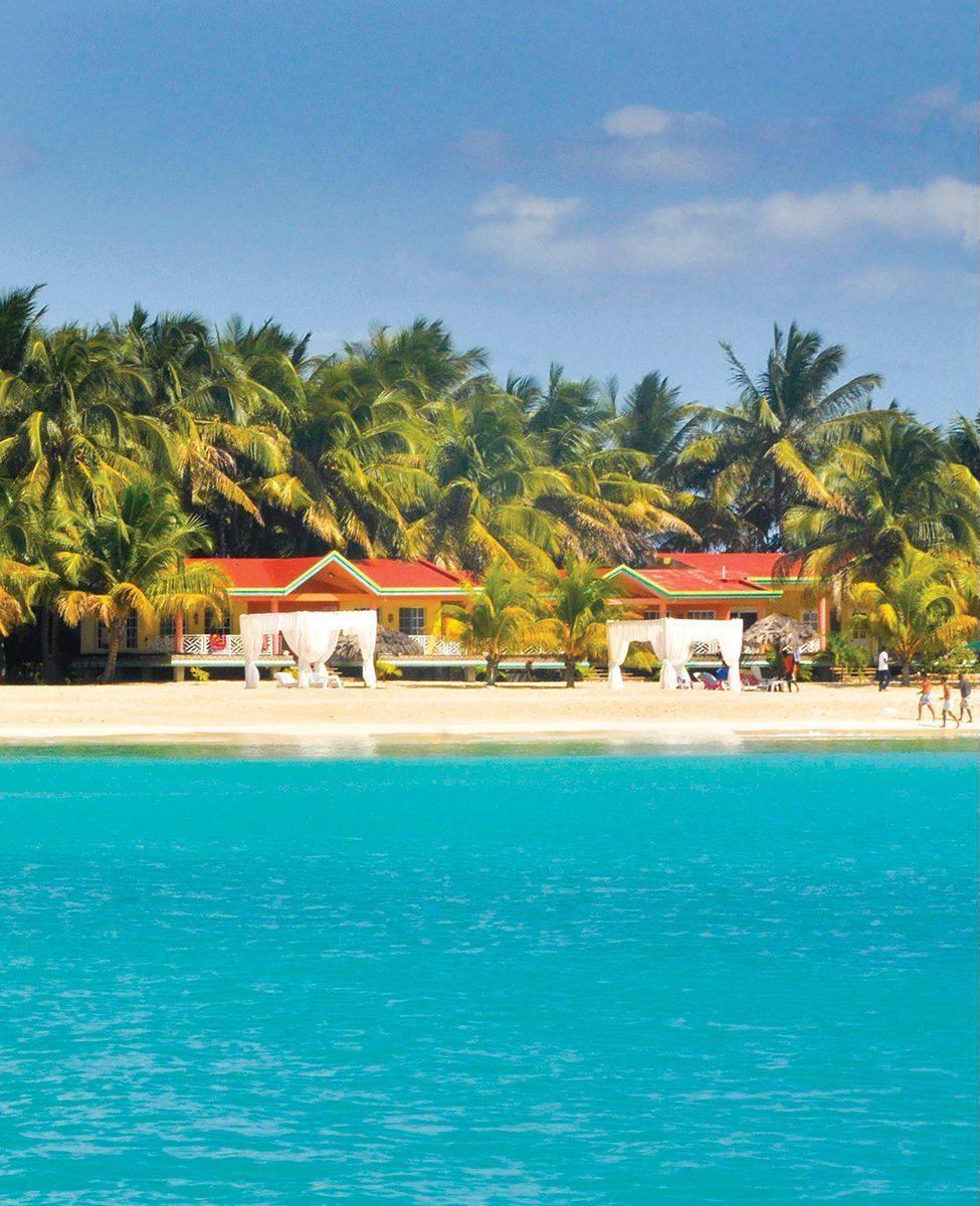 L'hôtel Abaka bay à Ïle-à-Vache. Georges H. Rouzier / Challenges