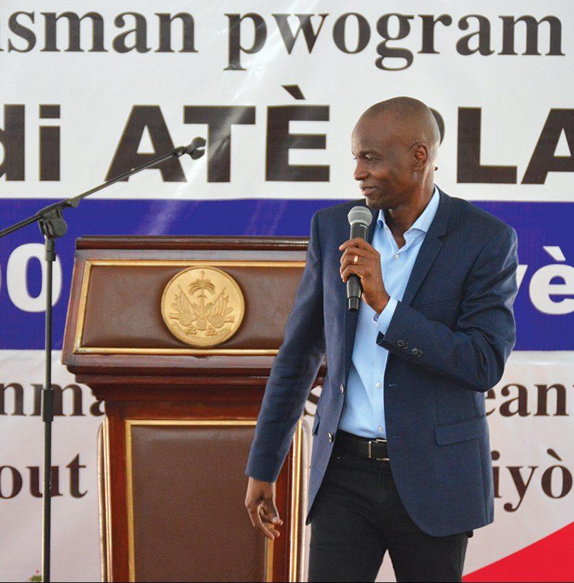Le président Jovenel Moïse lance le programme Kredi Atè Plat.