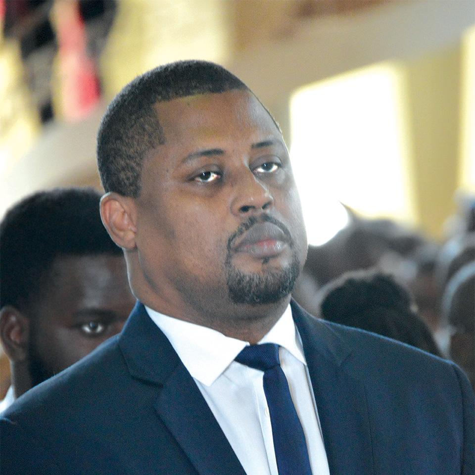 Le Président de la Chambre des députés Garry Bodeau.