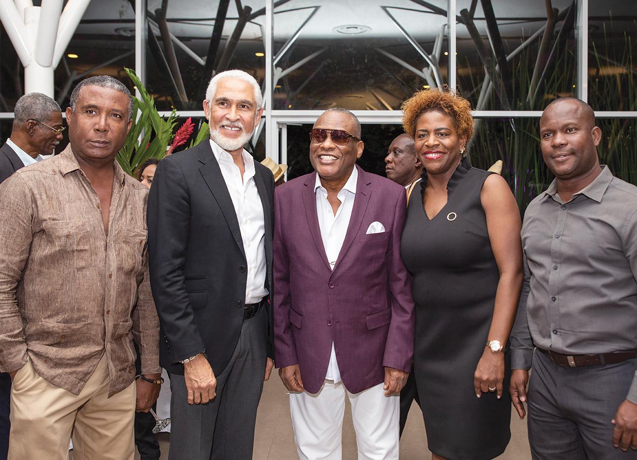 Des personnalités du monde culturel : Bruno Antonio, Phillipe Dodard, Robert M. Eugène (alias Choubou), Emmelie Prophète (DG BHDA), Fredlin Joseph.