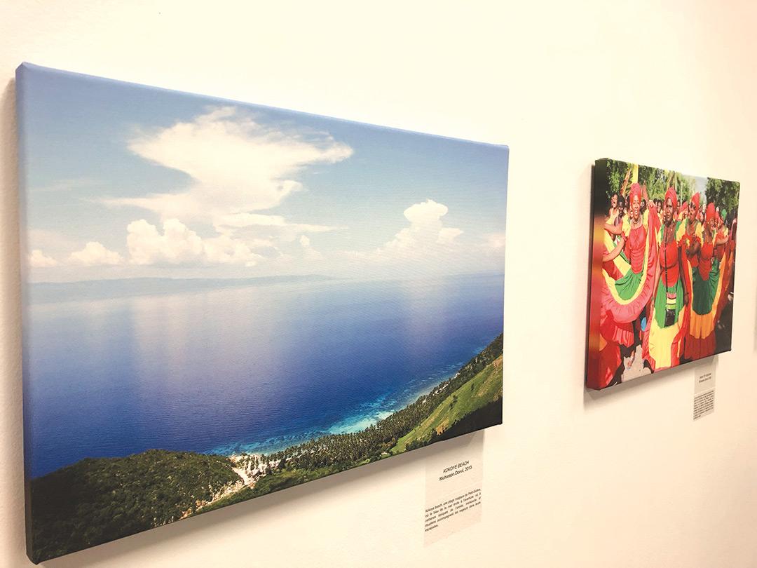 Quelques des photographies exposées.
